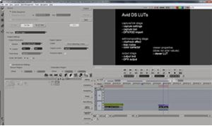 Avid DS - Introduction to LUTs - Part 2