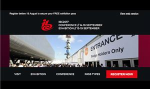 IBC offering free exhibition passes for September show