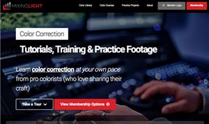 Mixing Light updates Website for online training