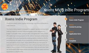 Xsens' new Indie Program brings mocap to the masses