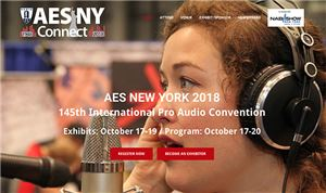 Advance registration open for October's AES show in NYC