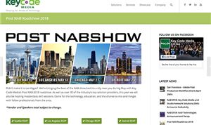 Key Code Media announces 'Post NAB' roadshow dates