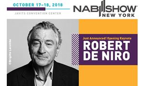 Robert DeNiro to speak at NAB Show New York