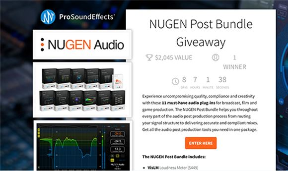 Pro Sound Effects & Nugen Audio partner on plug-in giveaway