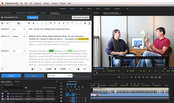 Digital Anarchy plug-in handles transcription within Premiere Pro