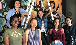 Charlieuniformtango invites students to create studio mural