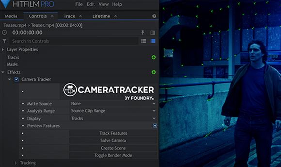 FXhome adds Foundry's CameraTracker in HitFilm 13
