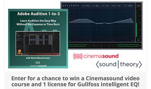Soundtheory & Cinemasound partner on contest