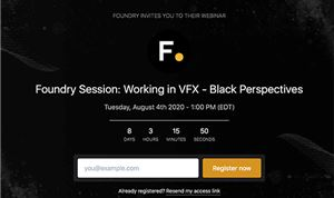 Foundry Webinar to offer 'Black Perspective'