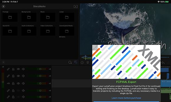 LumaFusion now offers export-to-FCPX option