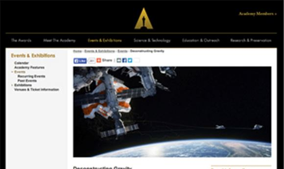 Academy event to deconstruct 'Gravity'