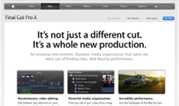 Apple releases Final Cut Pro X