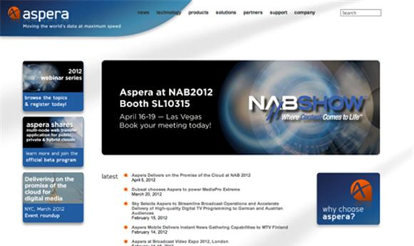 Aspera at NAB with cloud solution