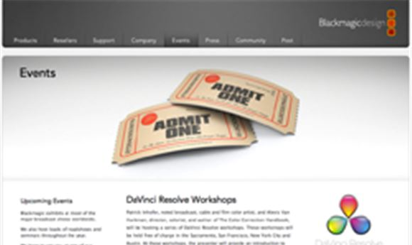 Blackmagic Design hosting Resolve workshop in NYC