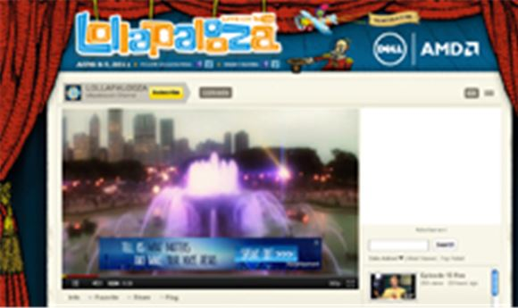 C3 & Dell partner for Lollapalooza Webcasts