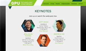 Live keynotes from the GPU Technology Conference in San Jose