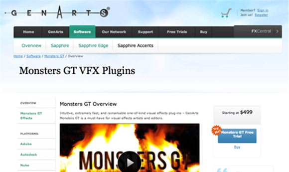 GenArts introduces new Monsters plug-ins
