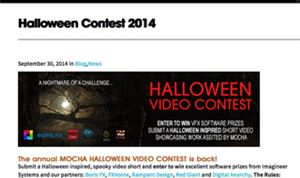 Imagineer Systems sponsoring Halloween video contest