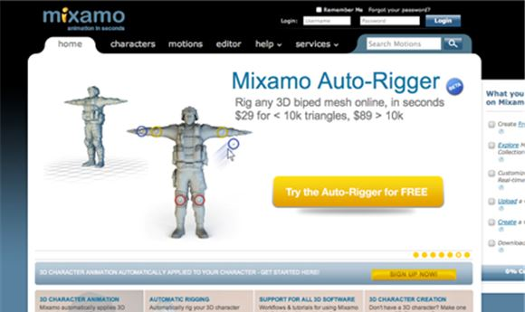 Mixamo releases free scripts for quick rigging