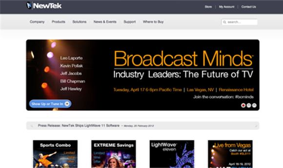 NewTek's 'Broadcast Minds' to look at Internet TV