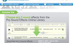 Pro Sound Effects offering free downloads