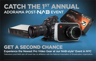 Adorama hosting post-NAB event in NYC