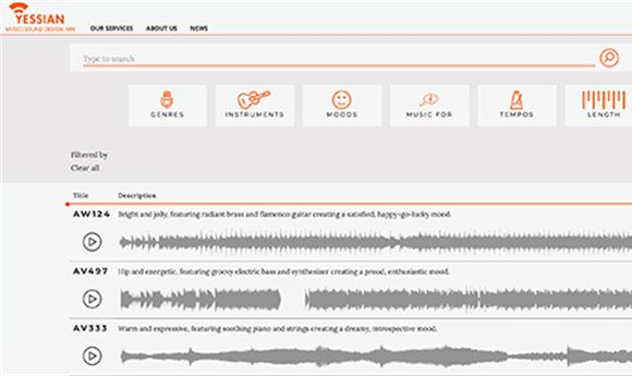 Sound Libraries: Yessian adds tracks, improves search site
